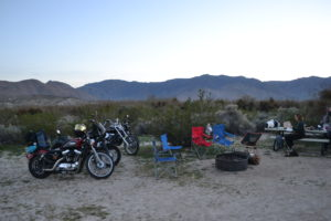 Bikes at the base of the mountain