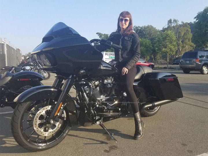 Sanna on the new 2018 Harley-Davidson Road Glide Special